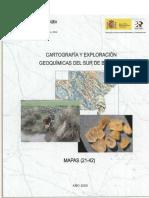 Cartografia Geoquimica Del Sur de Badajoz