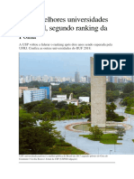 As 10 Melhores Universidades Do Brasil