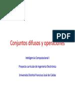 Conjuntos Difusos y Operaciones