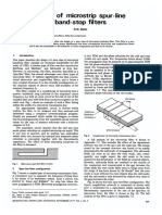 IEE Journal on Microwaves Optics and Acoustics Volume 1 Issue 6 1977 [Doi 10.1049%2Fij-Moa%3A19770029] Bates, R.N. -- Design of Microstrip Spur-line Band-stop Filters