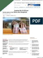 Rupiah Ke Level Terkuatnya Rp 14.033 Per Dollar Pasca Fed Tahan Suku Bunganya