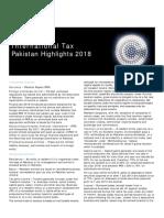 Dttl Tax Pakistanhighlights 2018