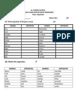 English Language Revision Test (1)