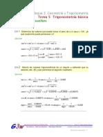 Ejercicios resueltos trigonometria basica-leyes de senos y cosenos
