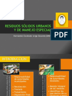 Residuos Sólidos Urbanos y de Manejo Especial