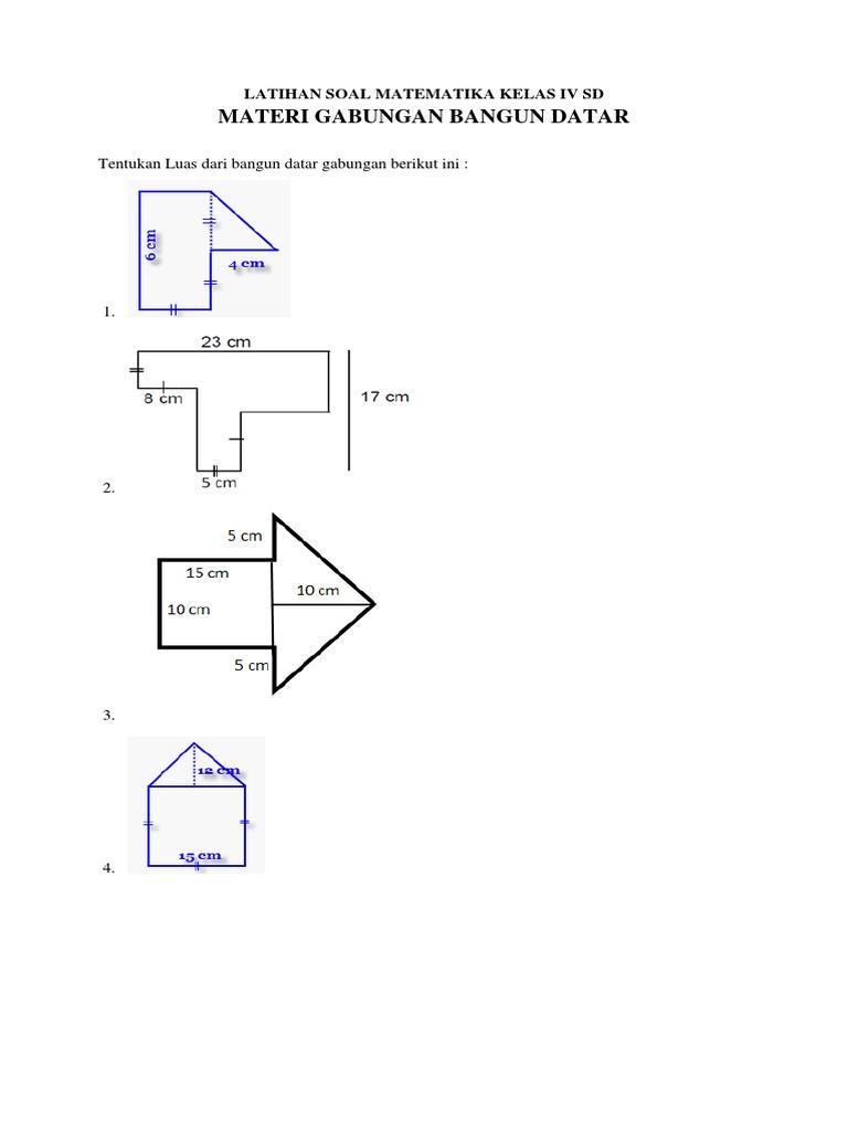 Contoh Latihan Soal Soal Matematika Kelas 4 K13 Bangun Datar