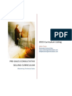 Outline MTS Consultative Selling Curriculum 1.60