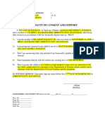 Asdffidavit dof Consent asdnd Support DOsdC