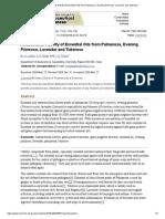 Antibacterial Activity of Essential Oils From Palmarosa, Evening Primrose, Lavender and Tuberose