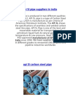 API 5l Pipe Suppliers in India