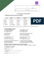 Teste 8º ano Francês para NEE