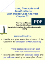 Ch_02_Cost Terms, Concepts and Classifications With Mixed Cost Analysis