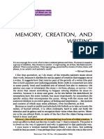 Memory, Creration, And Writing