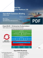 OCB Whats New in OpenShift Container Platform 3.9