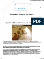 Homemade Magnetic Amplifiers