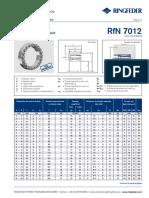 ANEL FIXAÇÃO RFN 7012 - RPT RINGFEDER
