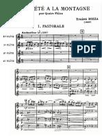 Bozza - Jour d'Ete a La Montagne, Flute Quartet