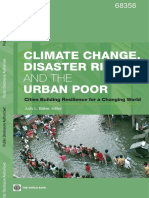 Climate Change Disaster Risk Urban Poor IPCC