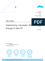 Implementing a Successful OM Strategy for Solar PV