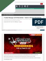 Www Fmscout Com a Football Manager 2018 Wonderkids HTML