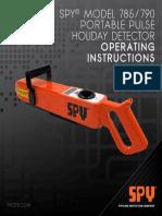 SPY Manual 785-790 Portable