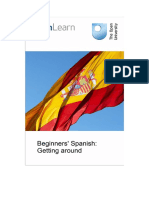 Beginners Spanish Getting Around