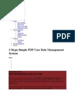 Multi User Login Php Code Step by Steb