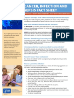 Cancer Infection and Sepsis Fact Sheet