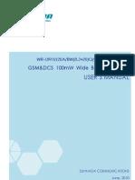 GSM+DCS 20dBm Mini Repeater User's Manual