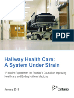 Hallway Health Care - A System Under Strain