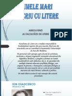 Absolventi Ai Facultatii de Litere USM 2007
