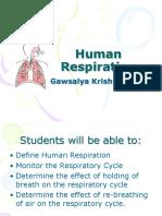 Human Respirations