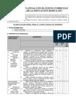 PLANIFICACION CURRICULAR MODELO 4° GRADO