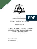 Diseño, Desarrollo y Simulación de Sistema Mecatrónico de Bajo Coste