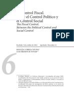 El Control Fiscal