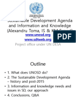 UNOSD SDG and InfoComm May 6