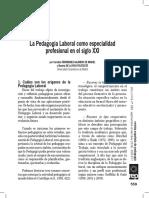 La Pedagogía Laboral como especialidad profesional en el siglo XXI - Carolina Fernández  y Beatriz de la Riva