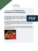 16 Municipios Del Departamento de Chimaltenango