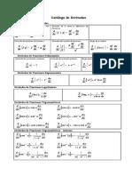 Catálogo de derivadas