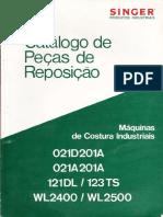 Catalogo de Peças de Reposição SINGER