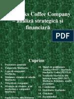 Starbucks Coffee Company – analiză strategică și financiară