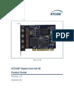 AX 4E Centos5.4 Dahdi User Manual V1.0 En