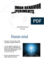 Human Behavior Exp