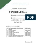 C6 - Coperta de Dosar Şi Opis Pentru Alegere CL Comuna