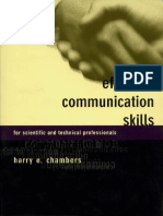 Harry Chambers, Harry E. Chambers - Effective Communication Skills for Scientific and Technical Professionals-Basic Books (2000)