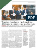 31-01-19 Tras dos elecciones, rinde protesta Adrián de la Garza como alcalde regio