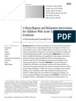 A Sleep Hygiene and Relaxation Intervention for Children With Acute Lymphoblastic Leukemia