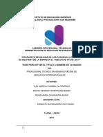 """""""Propuesta de Mejora de Los Procesos Logísticos de Delivery de La Empresa El Tablon de Tacna""""_2017 I_adni (1)"""