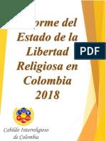 Informe Del Estado de La Libertad Religiosa en Colombia 2018