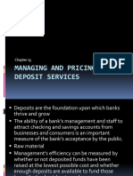 Managing and Pricing Deposit Services13